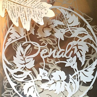 Papercut name rosettes