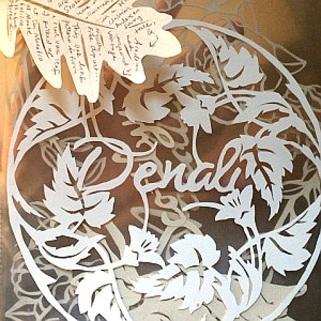 Papercut name rosettes